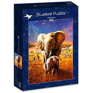 "Bluebird Puzzle (70314) - Adrian Chesterman: ""Elephant"" - 1000 piezas"