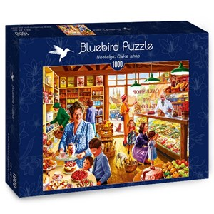 "Bluebird Puzzle (70326) - Steve Crisp: ""Nostalgic Cake shop"" - 1000 piezas"