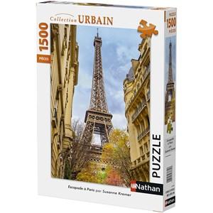 "Nathan (87784) - Susanne Kremer: ""Eiffel Tower, Paris"" - 1500 piezas"