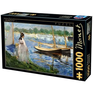 """D-Toys (74522) - Edouard Manet: """"The-Banks of the Seine at Argenteuil"""" - 1000 piezas"""