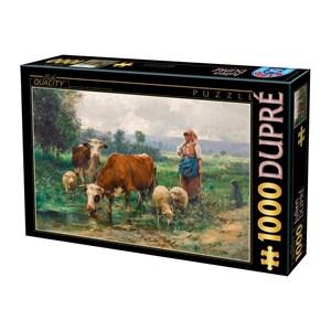 "D-Toys (74164) - Julien Dupre: ""A Shepherdess with her Flock"" - 1000 piezas"
