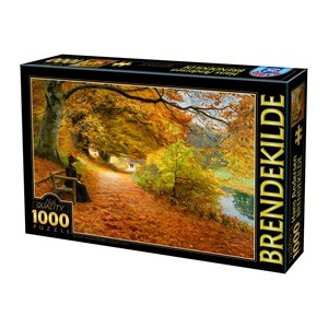 "D-Toys (75093) - H. A. Brendekilde: ""A Wooded Path in Autumn"" - 1000 piezas"