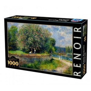 "D-Toys (74904) - Pierre-Auguste Renoir: ""Chestnut Tree in Bloom"" - 1000 piezas"