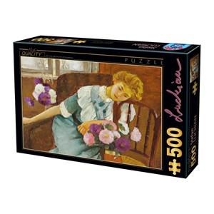 "D-Toys (73914) - Stefan Luchian: ""Lorica with Chrysanthemums"" - 500 piezas"
