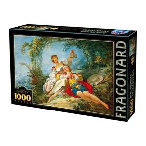 "D-Toys (74997) - Jean-Honoré Fragonard: ""Happy Lovers"" - 1000 piezas"