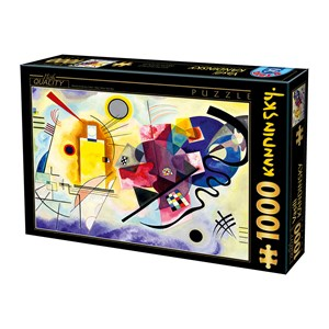 "D-Toys (75123) - Vassily Kandinsky: ""Yellow, Red, Blue"" - 1000 piezas"