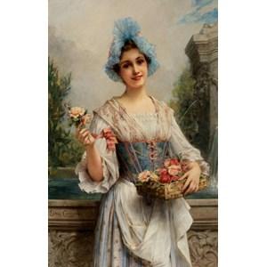 """D-Toys (73921) - Léon François Comerre: """"The Flower Seller"""" - 500 piezas"""