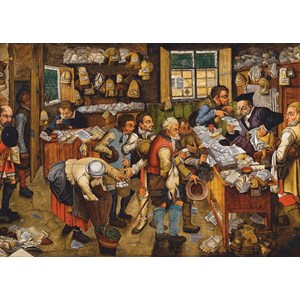 """D-Toys (74942) - Pieter Brueghel the Younger: """"The Payment of the Tithes, 1617-1622"""" - 1000 piezas"""