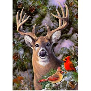 """Cobble Hill (85014) - Greg Giordano: """"One Deer Two Cardinals"""" - 500 piezas"""