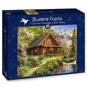 """Bluebird Puzzle (70118) - Dominic Davison: """"A Log Cabin Somewhere in North America"""" - 500 piezas"""