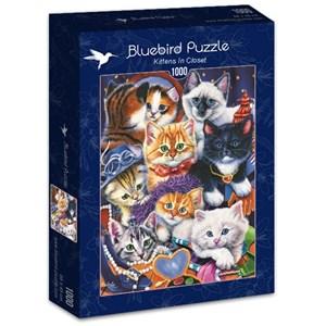 "Bluebird Puzzle (70087) - Jenny Newland: ""Kittens In Closet"" - 1000 piezas"