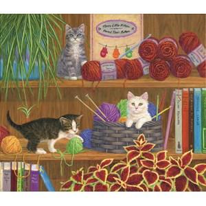 """SunsOut (31607) - Linda Elliott: """"Mittens"""" - 550 piezas"""