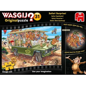 "Jumbo (19164) - ""Wasgij Original 31, Safari Surprise"" - 1000 piezas"