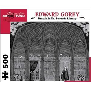 "Pomegranate (AA711) - Edward Gorey: ""Dracula in Dr. Seward's Library"" - 500 piezas"