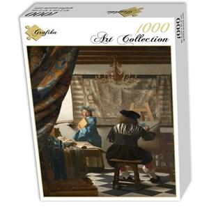 "Grafika (00145) - Johannes Vermeer: ""The Allegory of Painting, 1666-1668"" - 1000 piezas"