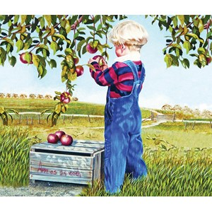 """SunsOut (26282) - Patricia Bourque: """"Apple Picking"""" - 550 piezas"""