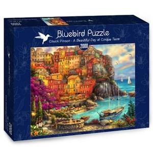 """Bluebird Puzzle (70055) - Chuck Pinson: """"A Beautiful Day at Cinque Terre"""" - 2000 piezas"""