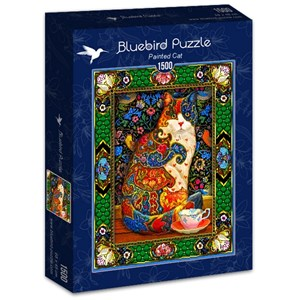 "Bluebird Puzzle (70152) - Lewis T. Johnson: ""Painted Cat"" - 1500 piezas"
