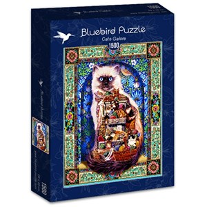 "Bluebird Puzzle (70154) - Lewis T. Johnson: ""Cats Galore"" - 1500 piezas"