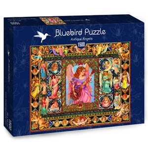 "Bluebird Puzzle (70027) - Lewis T. Johnson: ""Antique Angels"" - 1500 piezas"