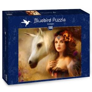 """Bluebird Puzzle (70158) - Bente Schlick: """"Unicorn"""" - 1000 piezas"""
