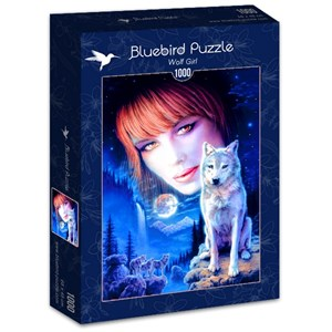 "Bluebird Puzzle (70133) - Robin Koni: ""Wolf Girl"" - 1000 piezas"