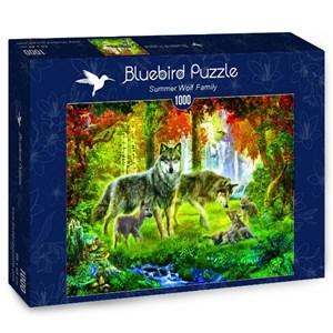 "Bluebird Puzzle (70156) - Jan Patrik Krasny: ""Summer Wolf Family"" - 1000 piezas"