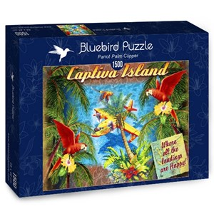 "Bluebird Puzzle (70104) - James Mazzotta: ""Parrot Palm Clipper"" - 1500 piezas"