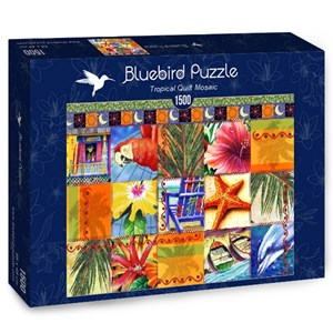 "Bluebird Puzzle (70081) - James Mazzotta: ""Tropical Quilt Mosaic"" - 1500 piezas"