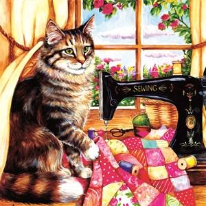 """SunsOut (36469) - Debbie Cook: """"The Seamstress"""" - 1000 piezas"""