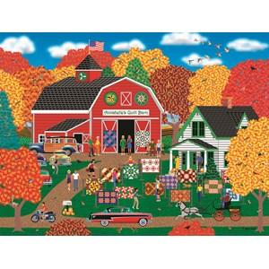 "SunsOut (22613) - Mark Frost: ""Annabelle's Quilt Barn"" - 1000 piezas"