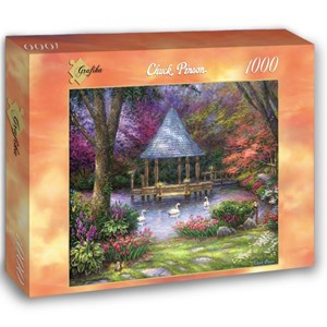 "Grafika (02781) - Chuck Pinson: ""Swan Pond"" - 1000 piezas"
