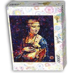 """Grafika (02842) - Leonardo Da Vinci, Sally Rich: """"Lady with an Ermine"""" - 1000 piezas"""