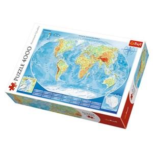 "Trefl (45007) - ""Physical Map of the World"" - 4000 piezas"
