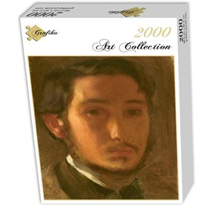 "Grafika (01765) - Edgar Degas: ""Self-Portrait with White Collar, 1857"" - 2000 piezas"