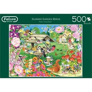 """Falcon (11253) - Claire Comerford: """"Summer Garden Birds"""" - 500 piezas"""