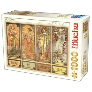 "D-Toys (75901) - Alphonse Mucha: ""Seasons"" - 1000 piezas"