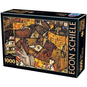 """D-Toys (76830) - Egon Schiele: """"Crescent Of Houses"""" - 1000 piezas"""
