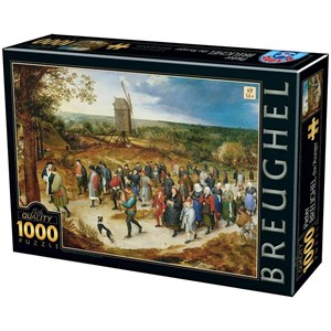 "D-Toys (76854) - Pieter Brueghel the Younger: ""The Marriage Procession"" - 1000 piezas"