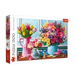 """Trefl (26157) - """"Flowers"""" - 1500 piezas"""