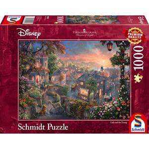 "Schmidt Spiele (59490) - Thomas Kinkade: ""Disney Lady and the Tramp"" - 1000 piezas"