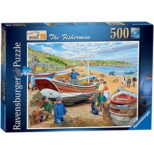 "Ravensburger (16414) - Trevor Mitchell: ""Happy Days at Work"" - 500 piezas"