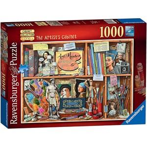 """Ravensburger (14997) - Geoffrey Tristram: """"The Artist Cabinet"""" - 1000 piezas"""