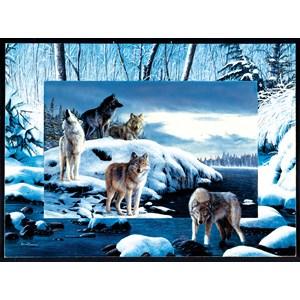 """SunsOut (55763) - Kevin Daniel: """"Ice Wolves"""" - 1000 piezas"""