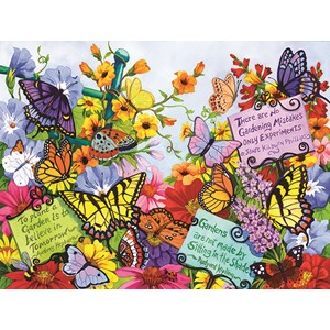 "SunsOut (62908) - Nancy Wernersbach: ""Butterfly Oasis"" - 500 piezas"