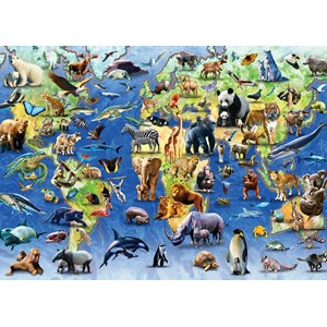 "Otter House Puzzle (73570) - ""Endangered Animals"" - 1000 piezas"