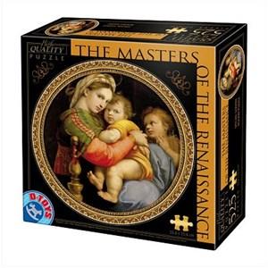"""D-Toys (69771) - Raphael: """"Madonna della Seggiola"""" - 525 piezas"""
