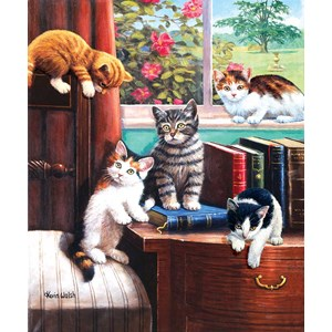 "SunsOut (13332) - Kevin Walsh: ""Playtime in the Study"" - 500 piezas"