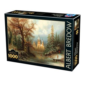 "D-Toys (75697) - Albert Bredow: ""Romantic Winter Landscape"" - 1000 piezas"