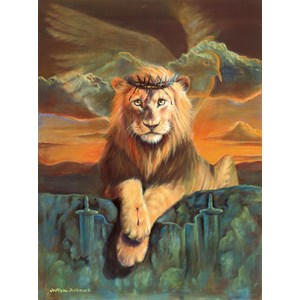 "SunsOut (66048) - William Clayton Hallmark: ""Lion of Judah"" - 500 piezas"